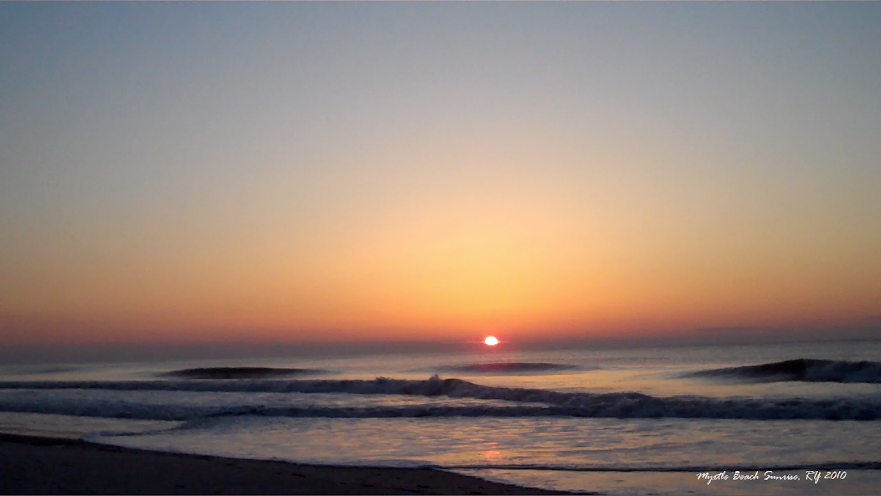 Photo taken by Robert at sunrise in Myrtle Beach, SC in March 2010, while on a Track Team retreat.