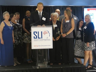 SLI founder and CEO Chris Nowinski with donor families