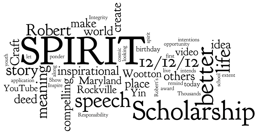 The 2013 SPIRIT Scholarship Kickoff Wordle